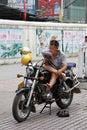 Man on bike Royalty Free Stock Photo