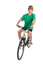 Man on bike in studio Royalty Free Stock Images