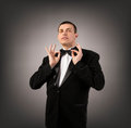 Man in Black Tuxedo Royalty Free Stock Photos
