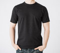 Man in blank t-shirt Royalty Free Stock Photo