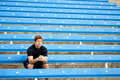 Man bleachers Stock Photography