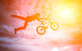 Man with a bmx bike. Royalty Free Stock Photography