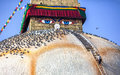 Man at Bodnath stupa Royalty Free Stock Photo