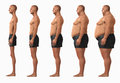 Man body mass index bmi categories underweight normal weight overweight obese obesity extreme obesity showing in their order d Stock Images