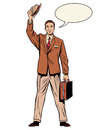 Man businessman salesman Royalty Free Stock Photo