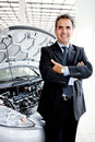 Man buying a car Stock Image