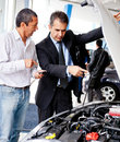 Man buying a car Royalty Free Stock Photo