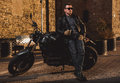 Man With A Cafe-racer Motorcycle