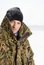 Man in camouflage. Royalty Free Stock Photos