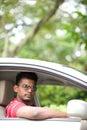 Man In Car Royalty Free Stock Photo