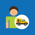 Man car mechanic service icon graphic