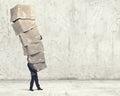 Man with carton boxes Royalty Free Stock Photo