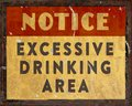 Man Cave Drinking Notice Sign ...
