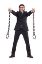 Man with chain isolated Royalty Free Stock Photo