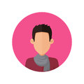 Man Character Avatar Vector in Flat Design.