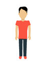 Man Character Template Illustration. Royalty Free Stock Photo