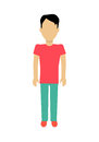 Man Character Template Vector Illustration. Royalty Free Stock Photo
