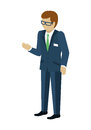 Man Character Vector In Isometric Projection. Royalty Free Stock Photo