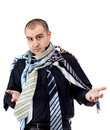 Man choosing the perfect necktie Royalty Free Stock Images