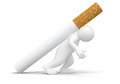 Man with cigarette clipping path included image Royalty Free Stock Images