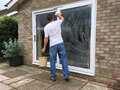 Man Cleaning Windows Royalty Free Stock Photo