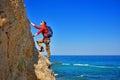 Man climbing up Royalty Free Stock Photo