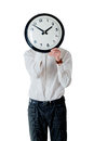 Man and clock Royalty Free Stock Image