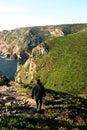 Man in coastline Royalty Free Stock Photo