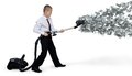 Man Collects Money Vacuum