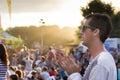 Man At Concert Or Summer Festi...