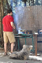 image photo : Man cooking