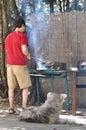 Man cooking Royalty Free Stock Photo