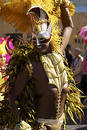 Man in costume nottinghill carnival london Royalty Free Stock Photo