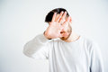 Man covering his face Royalty Free Stock Photo