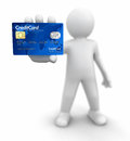 Man with credit card clipping path included image Royalty Free Stock Photos