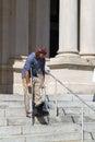 Man On Crutches Royalty Free Stock Photo