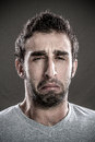 Man crying portrait of young Royalty Free Stock Photos