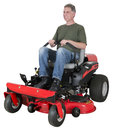Man Cut Grass or Lawn on Zero Turn Mower Isolated Stock Photos