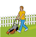 Man cutting the grass Royalty Free Stock Photos
