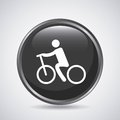 Man and cycle icon. Sport design. Vector graphic