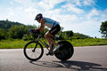 Man cycling in triatlon prachuabkirikhan thailand august unidentified game near beauty mountain on august prachuabkirikhan Stock Photo