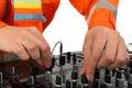 Man deejay closeup Royalty Free Stock Photos