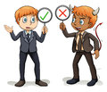 Man with a devil's advocate Royalty Free Stock Photo
