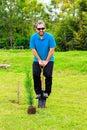 Man digging Royalty Free Stock Photo