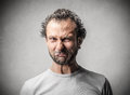 Man with a disgusted expression Royalty Free Stock Photo