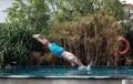 Man dive Royalty Free Stock Photo