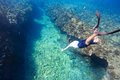 Man diving Royalty Free Stock Photo
