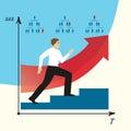 Man does career. Man goes on a career ladder. EPS,JPG.