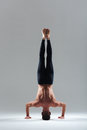 Man doing headstand Royalty Free Stock Photo