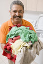 Man Doing Laundry Royalty Free Stock Photo